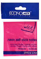 Блок бумаги для заметок с клейким слоем Economix 20944