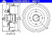 Барабан тормозной задний ABS 2715S; DELPHI BF402; NK 252534, 252544; MEYLE 7155237036 на Форд Фокус