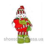 Снеговик фигурка под елку новогодняя игрушка 30см