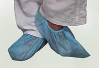 Бахилы низкие, спанбонд пл. 25 г/м², голубые