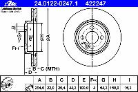 Диск тормозной передний TEXTAR 92183503; TRW DF6010; ROAD HOUSE 6133410; BMW 34116858652 на MINI Cooper