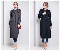 Длинное классическое пальто из итальянской шерсти e-alb02102