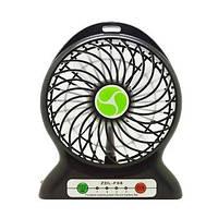 Портативный вентилятор F68: 4,5 Вт, вход USB DC 5 В, 3 скорости, 18650 2200mАh, 155 г, 10,6х4,2х14 см
