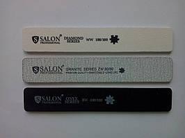 Пилка для нігтів 100/100 широка біла Salon Professional