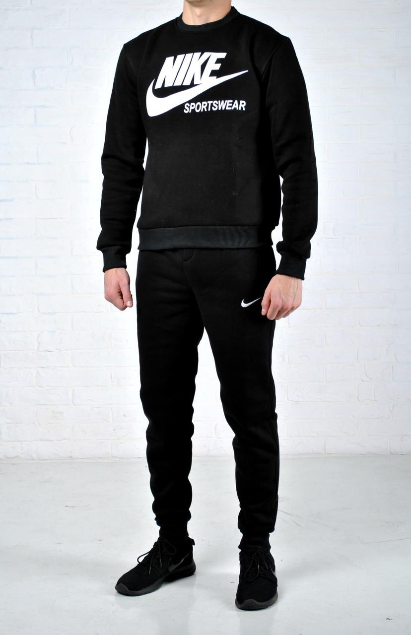 best service 9f65a fda5c Мужской утепленный спортивный костюм в стиле Nike Sportwear черный найк