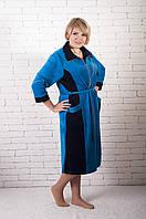 Велюровый халат большого размера