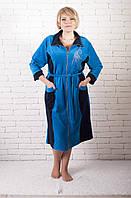 Женский велюровый халат супер батал, фото 1