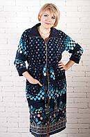Велюровый халат рябинка