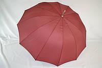 """Однотонный зонтик трость на 12 пластиковых спиц от фирмы """"TOPRAIN""""., фото 1"""
