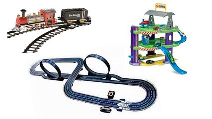 Автотреки, дитяча залізниця, паркінги