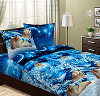 Комплект постельного белья бязь люкс двухспальный Волки