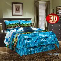 Комплект постельного белья бязь люкс двухспальный Тропический рай