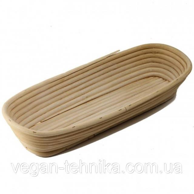Корзинка для расстойки теста из ротанга KoMo овальная форма