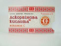 """Аскорбінова кислота """"Вітамін С"""", таблетки 3 р №6"""