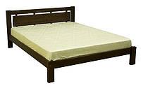 Деревянная кровать темного цвета Черный лотос
