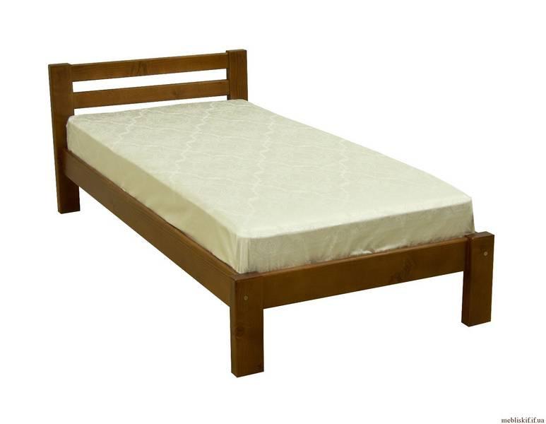 Просторная деревянная кровать односпальная «Антрацит»