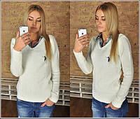 Женский свитер-рубашка Поло