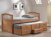 Высокая  кровать с выдвижными ящиками «Лунная ночь»