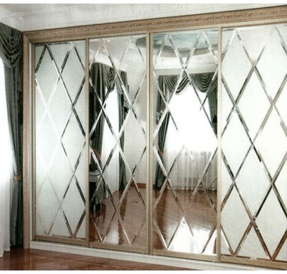 "Дверь купе ""Ницца"" (2680х700), Зеркало Фацет."