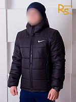 Зимняя мужская куртка Nike black (осень-зима)