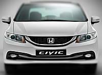 """Honda Civic - установка биксеноновых линз Moonlight SUPER G5 2,5"""" H1 в фары"""