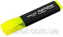 """Маркер текстовий """"Highlighter"""", 2-4 мм, жовтий. Delta by Axent"""