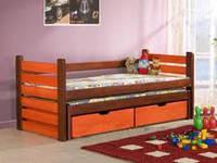 Кровать детская с ящиками деревянная «Виктория плюс»