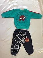 Костюм на флисе Человек паук для мальчиков оптом 68-86
