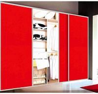"""Дверь купе """"Нью-Йорк"""" (2680х700), Цветное стекло, ДСП."""