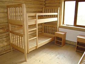 """Двоярусне ліжко """"Заріна"""" без ящиків (масив бука)"""