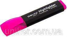 """Маркер текстовий """"Highlighter"""", 2-4 мм, рожевий. Delta by Axent"""