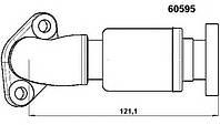 Патрубок системы рециркуляции ог (клапана egr)  WAHLER 60595D; MERCEDES A6111400157 на Mercedes-Benz 901, 902