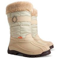 Зимние сапоги-сноубутсы Demar ANETTE (бежевые) р.35-40 девочкам на овчине