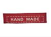 """Бирки текстильные """"Hand made"""",  4,5х1,1 см, 5 шт., цвет красный"""