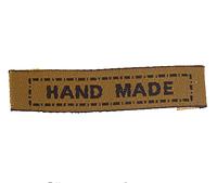 "Бирки текстильные ""Hand made"", 4,5х1,1 см, кофейный, (5 шт)"