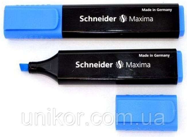"""Маркер текстовый, 1-5 мм., """"Maxima"""", повышенный объем, синий. SCHNEIDER"""