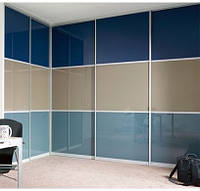 "Дверь купе ""Невада"" (2680х700), Цветное стекло."