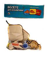 Деревянная игрушка  Веселые магнитики - раскраски: Динозавры