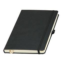 Записная книжка А5 (Ivory Line) (Черный), кремовый блок в линейку и клетку (комбинированный)