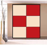 "Дверь купе ""Палермо"" (2680х700), Цветное стекло."