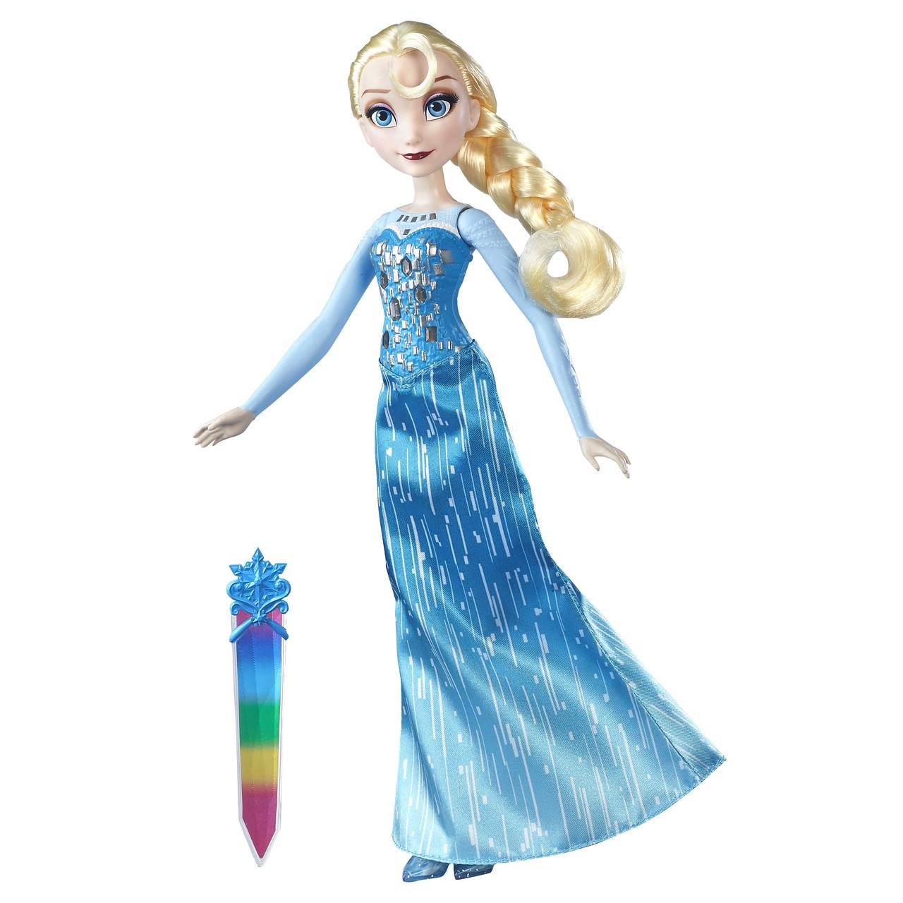 Куклы и пупсы «Disney Frozen» (B6162_B6163) модная кукла Эльза (Elsa) в сияющем наряде