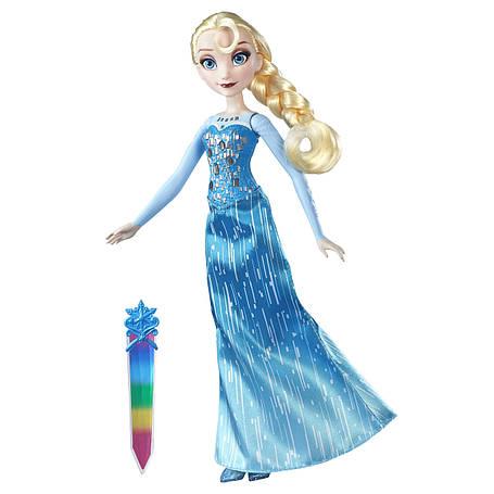 Куклы и пупсы «Disney Frozen» (B6162_B6163) модная кукла Эльза (Elsa) в сияющем наряде, фото 2
