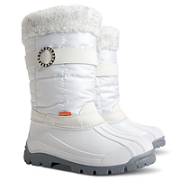Зимние сапоги-сноубутсы Demar ANETTE (белые) р.35-40 девочкам на овчине