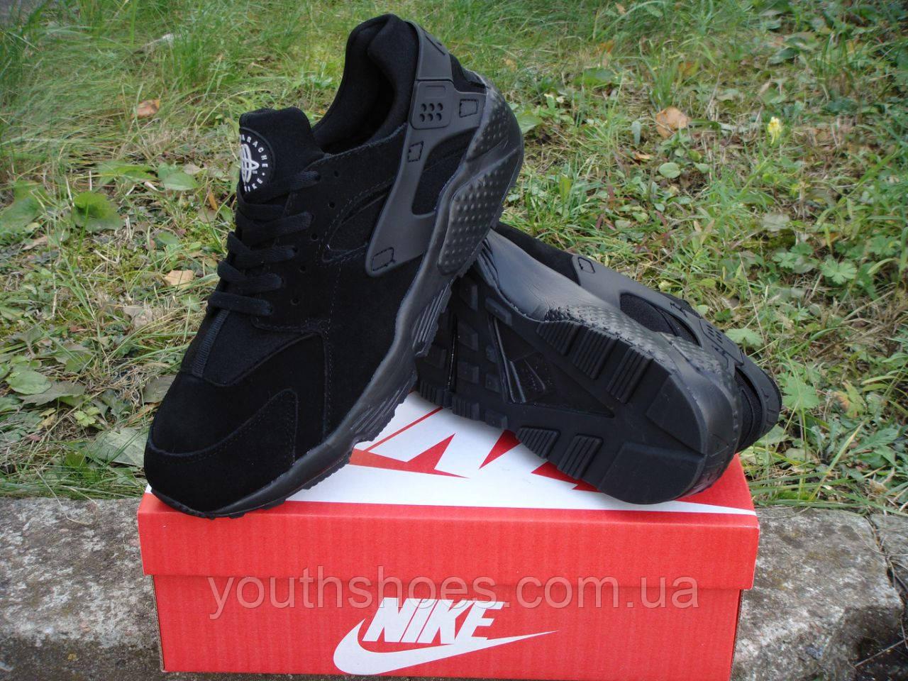 Зимние мужские кроссовки Nike Air Huarache Черные р. 45, 46, фото 1