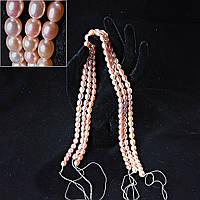Жемжуг речнойна нитке №23, розовый 8-9мм, длина 37-41см, цена за 1 нить