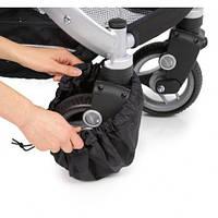 Комплект защитных чехлов на колеса детской коляски, цвет черный, Teutonia
