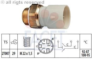 датчик включения вентилятора на вольво 440