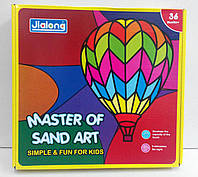 Большой набор для творчества: Картины из песка, 12 цветов, 24 карточки