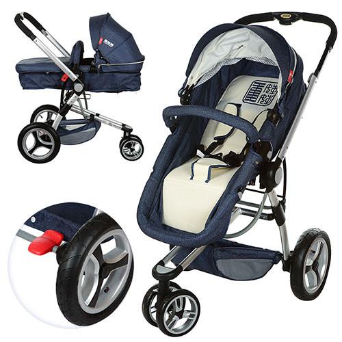 Универсальная детская коляска 809-4 синяя
