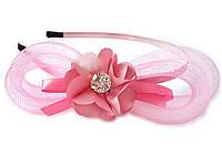 Розовый обруч и Аксессуары для Волос. С Цветком и Кристаллом.